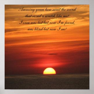Amazing Grace Sunrise Poster