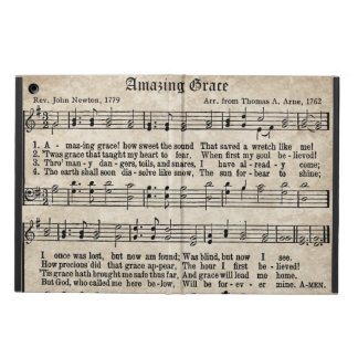 Amazing Grace Vintage Style Hymn iPad Air Case
