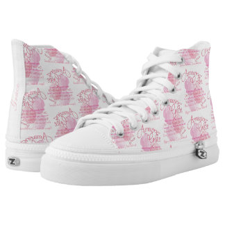 Amazing Grace With Beautiful Pink Roses High Tops