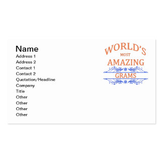 Amazing Grams Pack Of Standard Business Cards