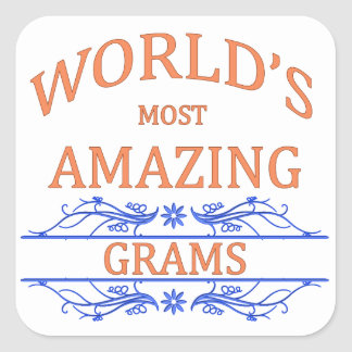 Amazing Grams Square Sticker