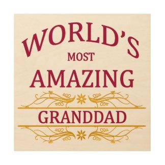 Amazing Granddad Wood Print
