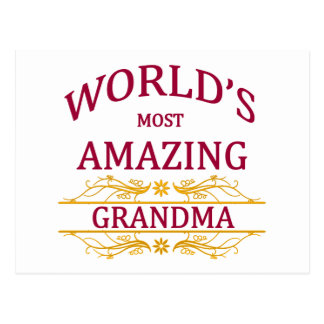 Amazing Grandma Postcard