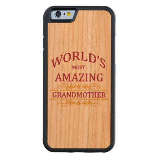 Amazing Grandmother Carved® Cherry iPhone 6 Bumper
