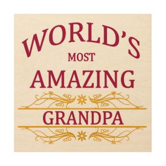 Amazing Grandpa Wood Wall Art