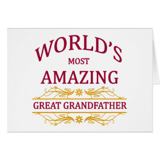 Amazing Great Grandfather Greeting Card
