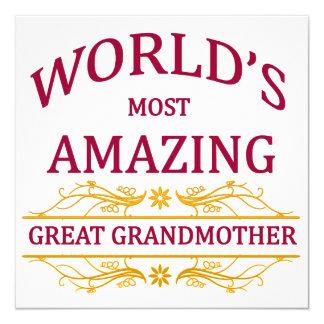 Amazing Great Grandmother 13 Cm X 13 Cm Square Invitation Card