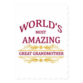 Amazing Great Grandmother 13 Cm X 18 Cm Invitation Card
