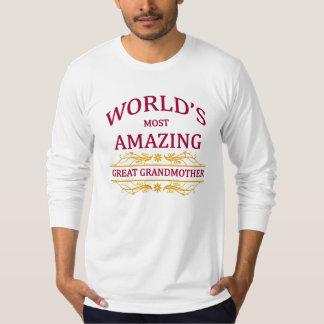 Amazing Great Grandmother Tee Shirt
