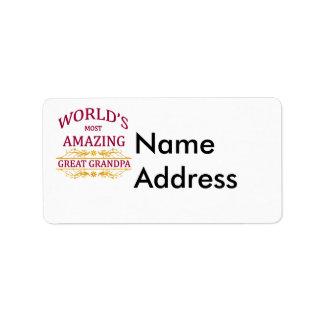 Amazing Great Grandpa Address Label
