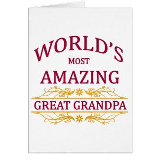 Amazing Great Grandpa Greeting Card