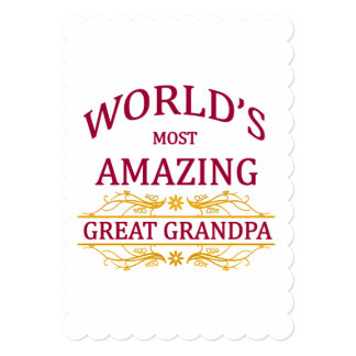 Amazing Great Grandpa 13 Cm X 18 Cm Invitation Card