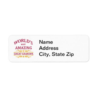 Amazing Great Grandpa Return Address Label