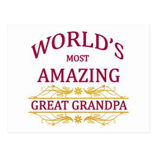 Amazing Great Grandpa Postcard