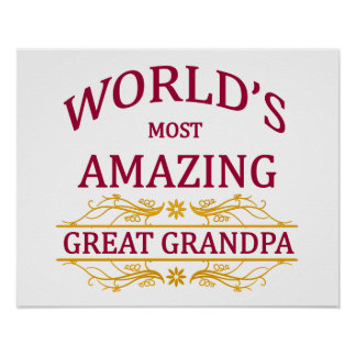 Amazing Great Grandpa Poster