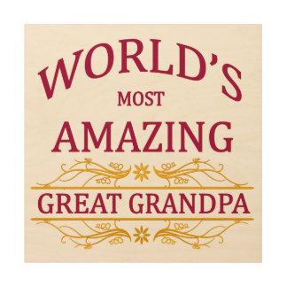 Amazing Great Grandpa Wood Print