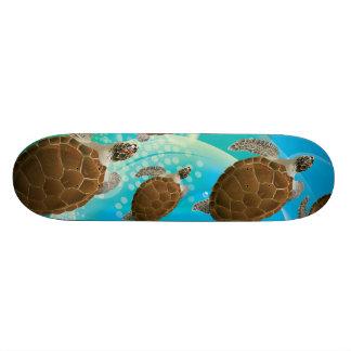 Amazing Green Sea Turtles Skateboard