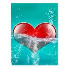 Amazing heart postcard