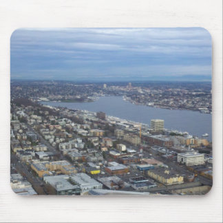 Amazing High Vantage Point Overlooking Seattle Mouse Pad