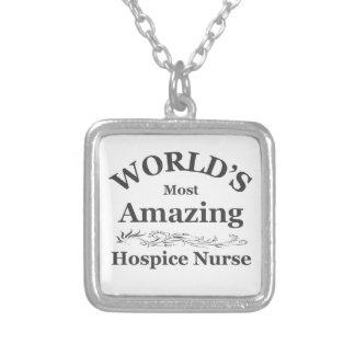 Amazing Hospice Nurse Square Pendant Necklace