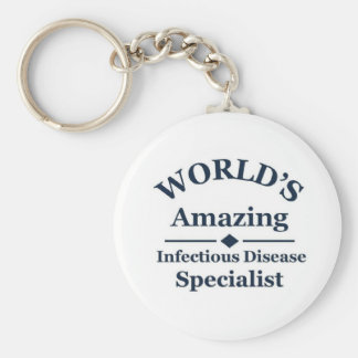 Amazing Infectious Disease Specialist Basic Round Button Key Ring