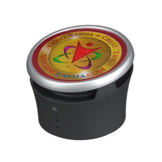 Amazing Karma Gold Coin Logo Bluetooth Speaker