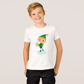 Amazing Kids artistic tshirt with green Elf