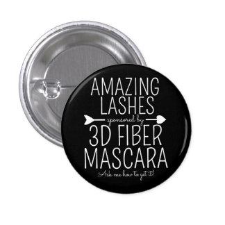 Amazing lashes sponsored by 3d mascara 3 cm round badge