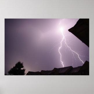 Amazing Lightning Strike Poster