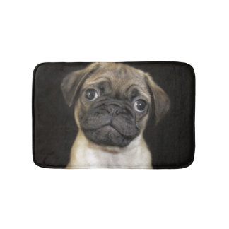 Amazing Little Pug Puppy Bath Mat