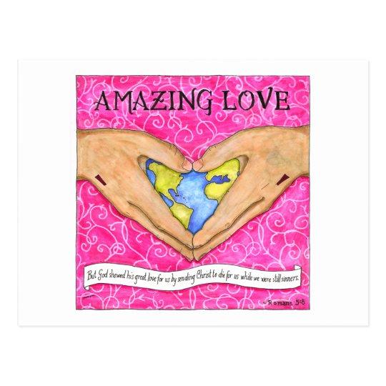 Amazing Love Inspirational Postcard