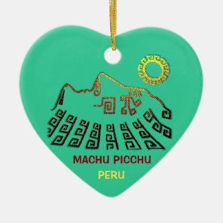 Amazing Machu Picchu Christmas Ornament