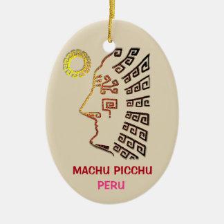 Amazing Machu Picchu Drawing Christmas Ornament