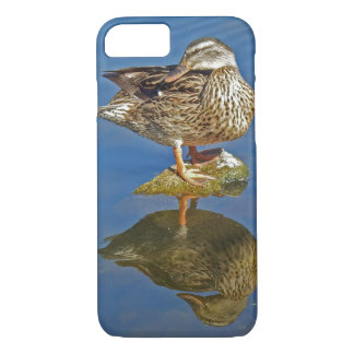 Amazing Mallard Hen Duck Reflection iPhone 8/7 Case
