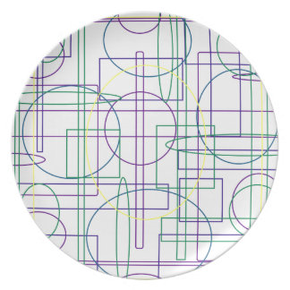 Amazing Maze Abstract Design Plate