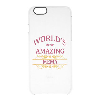 Amazing Mema Clear iPhone 6/6S Case