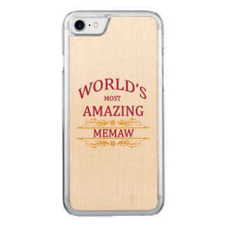 Amazing Memaw Carved iPhone 7 Case