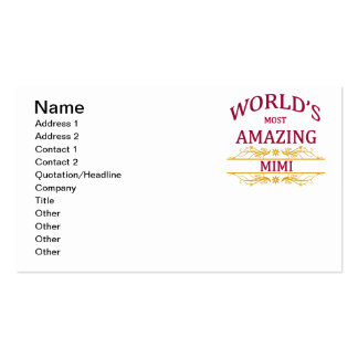 Amazing Mimi Pack Of Standard Business Cards