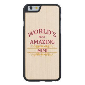 Amazing Mimi Carved® Maple iPhone 6 Slim Case