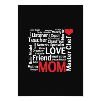 "Amazing Multitasking Master Chef Mom Mother's Day 5"" X 7"" Invitation Card"