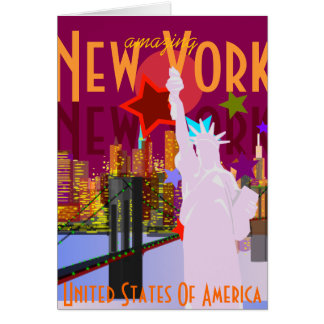 Amazing New York Greeting Card