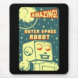Amazing Outer Space Robot Mouse Mat