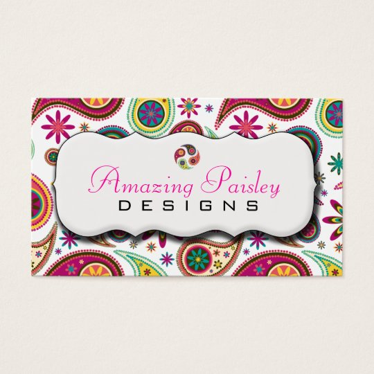 Amazing Paisley Business Card