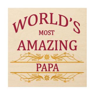 Amazing Papa Wood Canvases