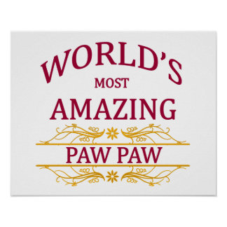 Amazing Paw Paw Poster