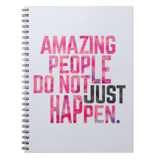 Amazing People Quote Spiral Notebook