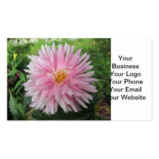 Amazing Pink Dahlia Flower Business Card Template