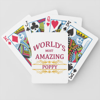 Amazing Poppy Bicycle Playing Cards