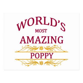 Amazing Poppy Postcard