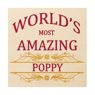Amazing Poppy Wood Canvas